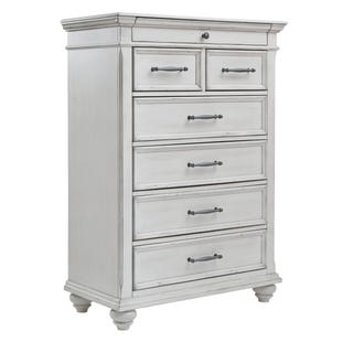 Ashley Kennedy Distressed Whitewashed Chest