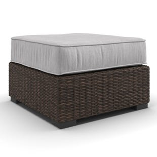 Ashley Alta Grande Cream Twill All Weather Outdoor Ottoman