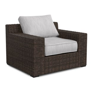 Ashley Alta Grande Cream Twill All Weather Wicker Lounger