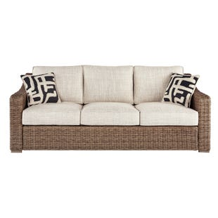 Bonita Outdoor Wicker Beige Sofa