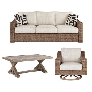Bonita Outdoor Wicker Sofa, Chair and Table Patio Set