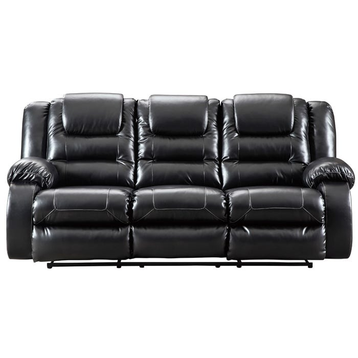 Ashley Vacherie Black Faux Leather Reclining Sofa Weekends Only