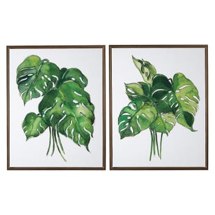 Palm Botanicals 2 Piece. Art Set
