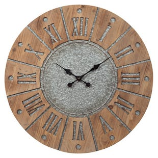 Rustic Farmhouse Wall Clock