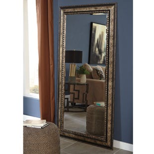 Ashley Silver Antique Finished Beveled Mirror