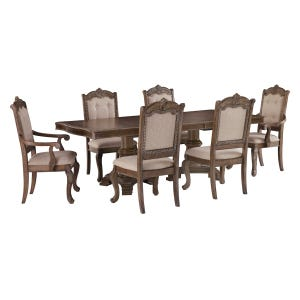 Ashley Charmed 7 Piece Double Pedestal Dining Set