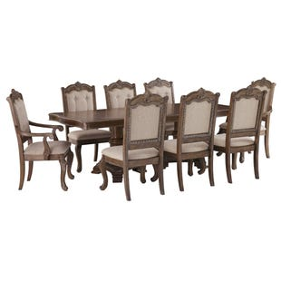 Ashley Charmed 9 Piece Double Pedestal Dining Set
