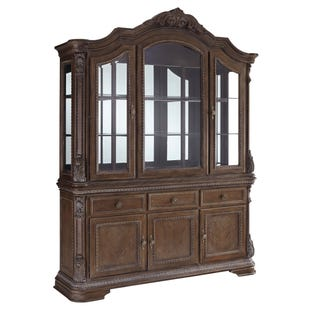 Ashley Charmed Lighted Hutch and Buffet