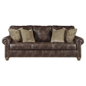 Ashley Nico Coffee Faux Leather Sofa