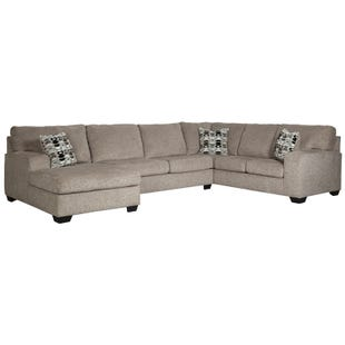 Ballina 3 Piece Chenille Left Facing Chaise Sectional
