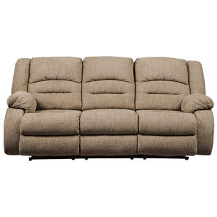 Ashley Labarre Wheat Power Reclining Sofa and Headrest