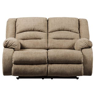 Ashley Labarre Wheat Power Reclining Loveseat and Headrest