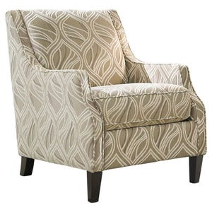 Ashley Mauricio Cream Chenille Abstract Patterned Chair