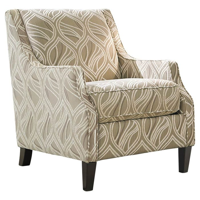Ashley Mauricio Cream Chenille Abstract Patterned Chair Weekends Only Furniture