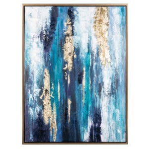 Shades of Blue Framed Canvas
