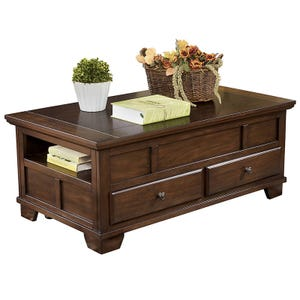 Ashley Gately Burnished Brown Lift-Top Table