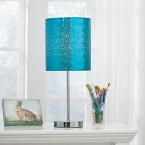Ashley Teal Sequin Accent Lamp
