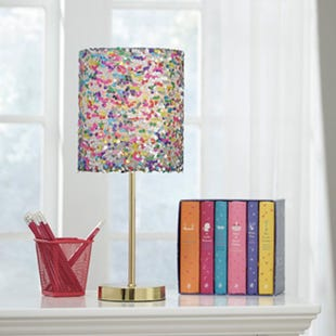Ashley Pink Multi Sequin Accent Lamp