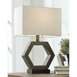 Marilu Gray Washed Wood Accent Lamp