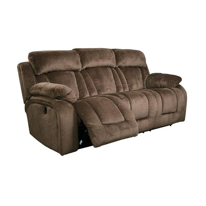 Ashley Stricklin Brown Power Reclining Sofa Weekends Only Furniture
