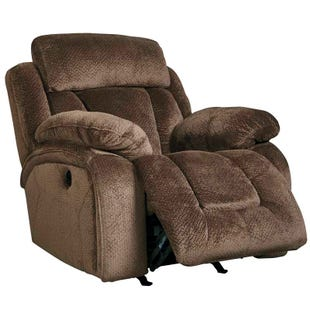 Ashley Stricklin Brown Power Recliner