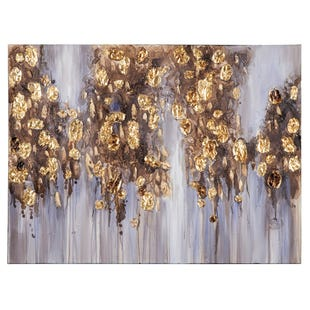 Gold Leaf Canvas Art