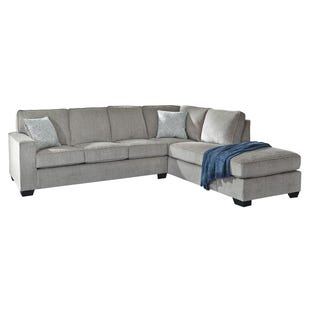 Atlas Gray Chenille Sectional