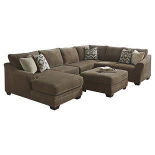 Ashley Justnya LAF Chenille Chaise Sectional