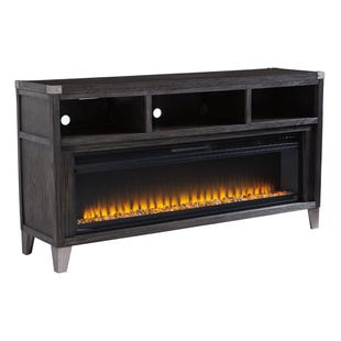 "Ashley ToDoe Industrial Gray 65"" ET w/Fireplace Insert"