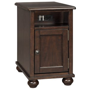 Ashley Barilanni Dark Brown Chairside End Table