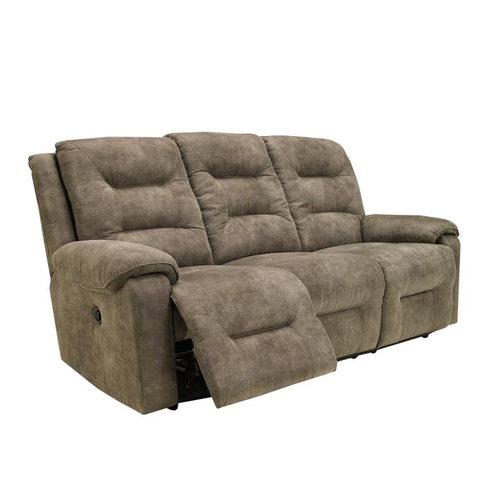 Gray Microfiber Reclining Sofa