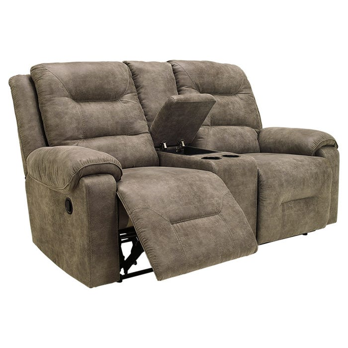 Fabulous Ashley Rotation Gray Microfiber Power Reclining Loveseat Gmtry Best Dining Table And Chair Ideas Images Gmtryco