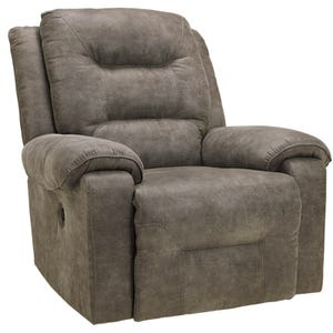 Ashley Rotation Gray Microfiber Power Recliner