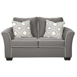 Denmark Loveseat with Contrast Welt
