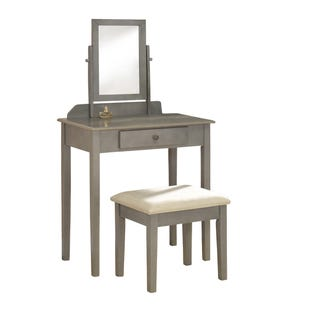 Iris Gray Vanity and Stool Set