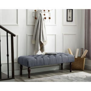 Tatiana Gray Tufted Bench
