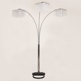 Crystal Glam Arc Floor Lamp