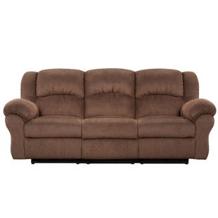 Aspen Chocolate Reclining Sofa
