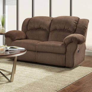 Aspen Chocolate Reclining Loveseat