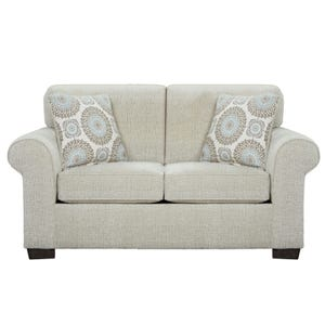 Charisma Cream Chenille Loveseat