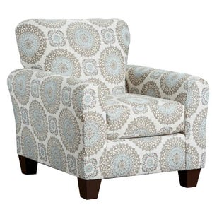 Charisma Cream Geometric Accent Chair