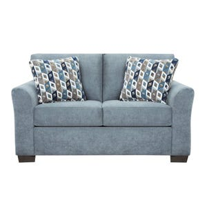 Anna Blue Microfiber Sofa Chaise Weekends Only Furniture