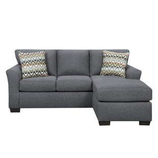 Anna Gray Reversible Sofa Chaise