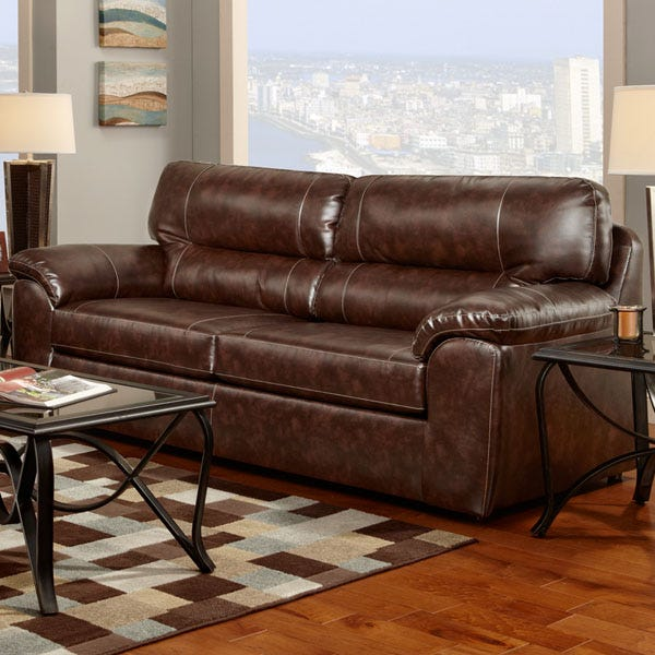 Awe Inspiring Cheyenne Bonded Leather Sofa Pabps2019 Chair Design Images Pabps2019Com