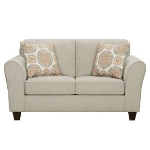 Brianne Taupe Chenille Loveseat