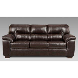 Faux Leather Austin Sofa Brown