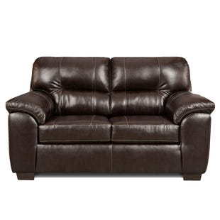 Faux Leather Austin Loveseat Brown