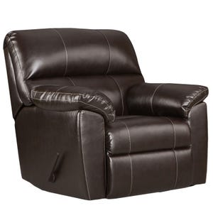 Austin Chocolate Faux Leather Recliner