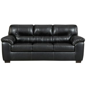 Faux Leather Austin Sofa Black