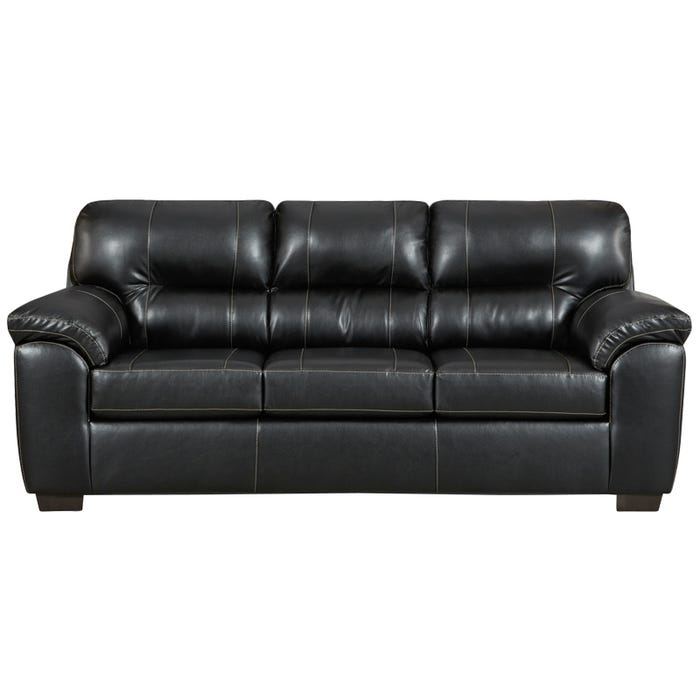 Austin Black Faux Leather Sofa | Weekends Only Furniture